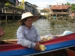 Schwimmener Kiosk auf dem Khlong
