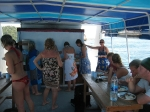 Mittag auf dem Boot