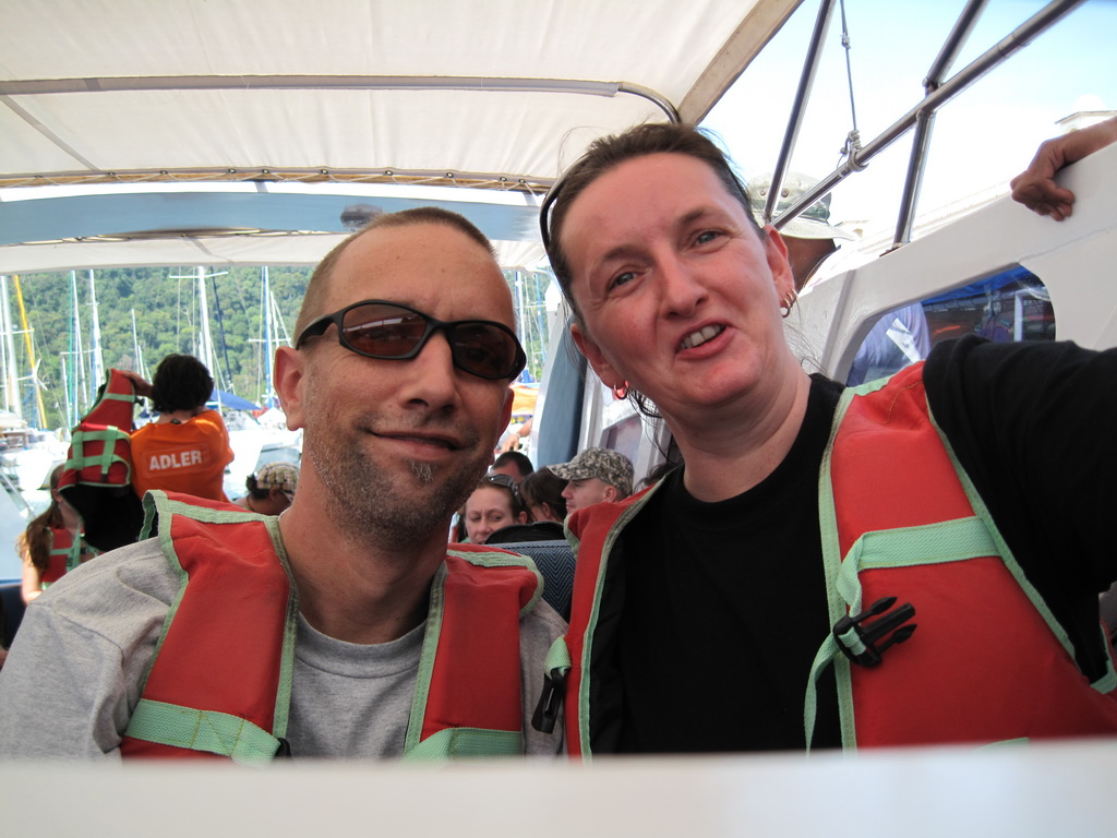 On the speedboat from Malaysia