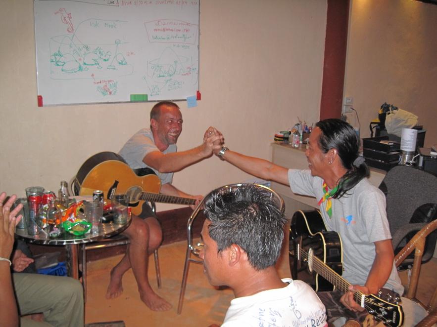 Jam Session at the Dive Shop