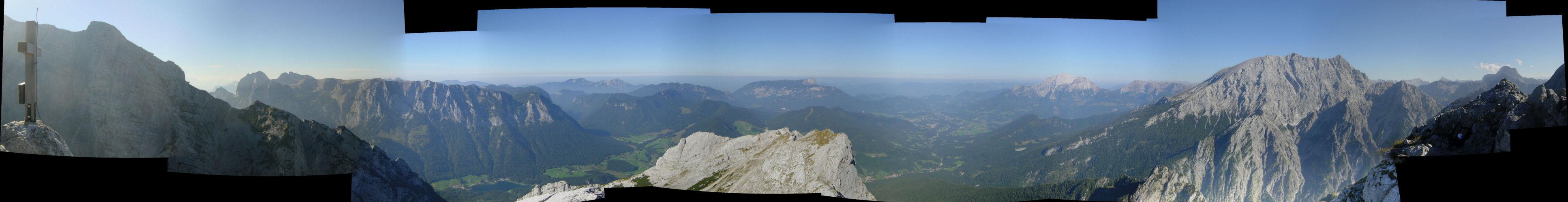 Das Panorama vom Gipfel der Schärtenspitze'); return false;